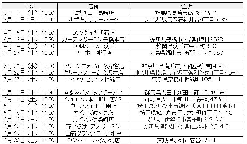 2019春小山内さんイベント