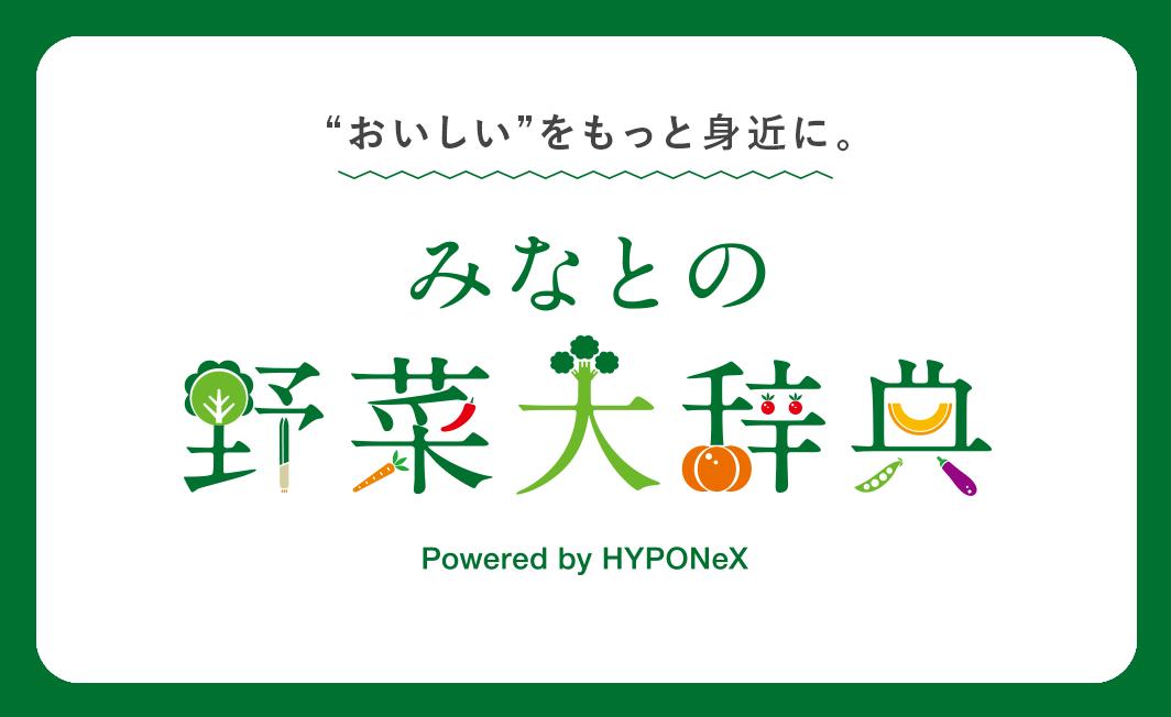 'おいしい'をもっと身近に。みなとの野菜大辞典 Powerd by HYPONeX